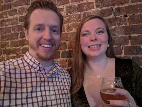 Casey & Mr. PC having one last beer of 2019
