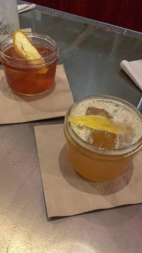 drinks at Chicken + Honey