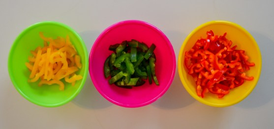 red and yellow mini peppers with jalapenos