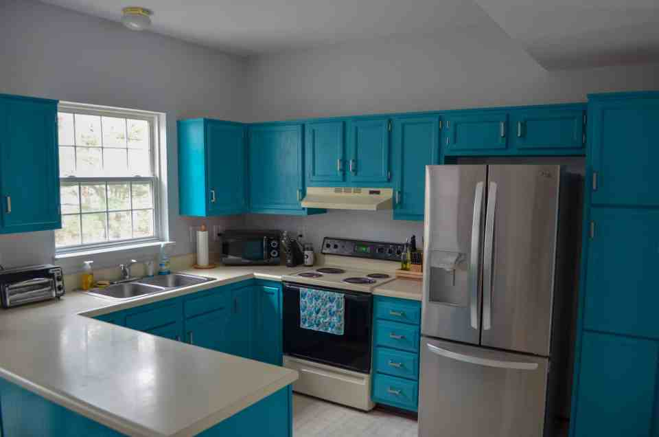 updated kitchen with new kitchen hardware