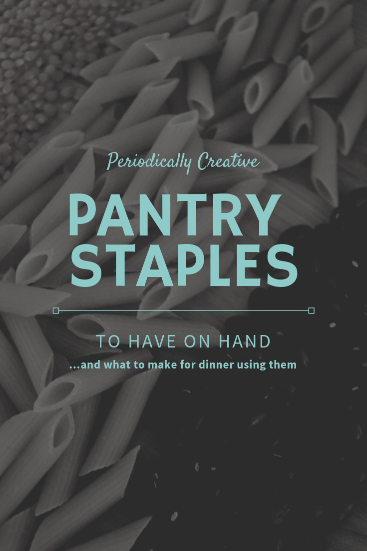 Pantry staples you need to have as well as what to do with them when you're short on dinner ideas. #easydinner #dinnerideas