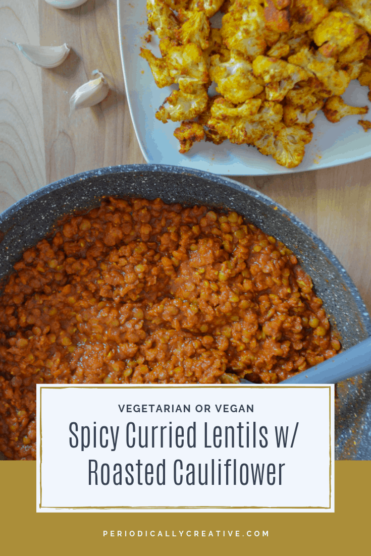 This Indian inspired meal is sure to be a hit with spicy lovers! Lentils cook quickly and are great for vegetarians and meat lovers alike. #spicy #dinnerrecipe #vegetarian