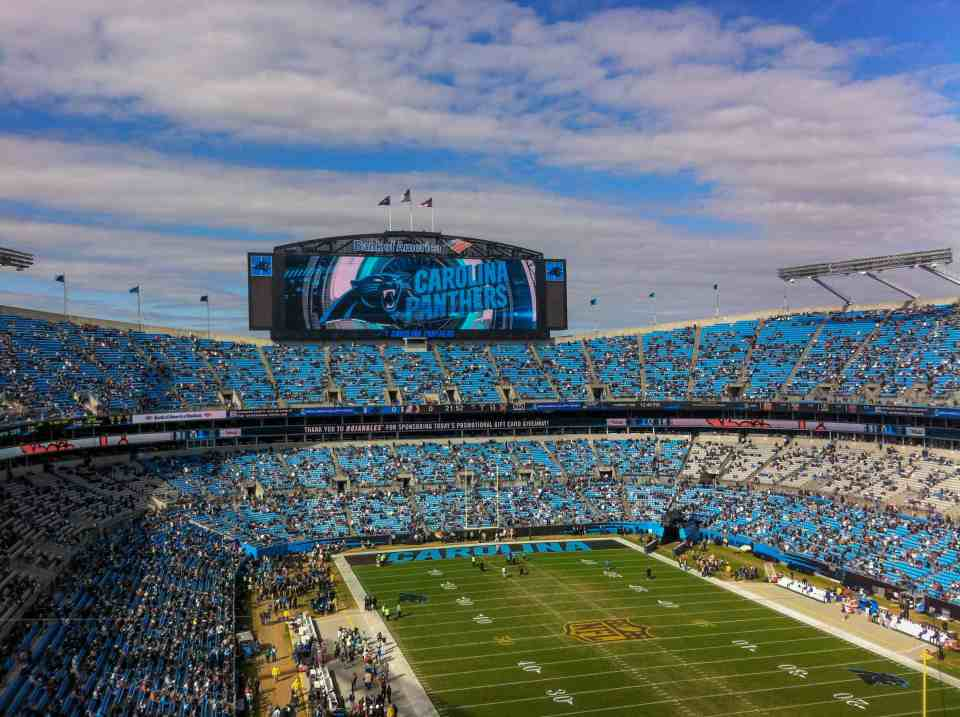 Charlotte is home to the Carolina Panthers football team.