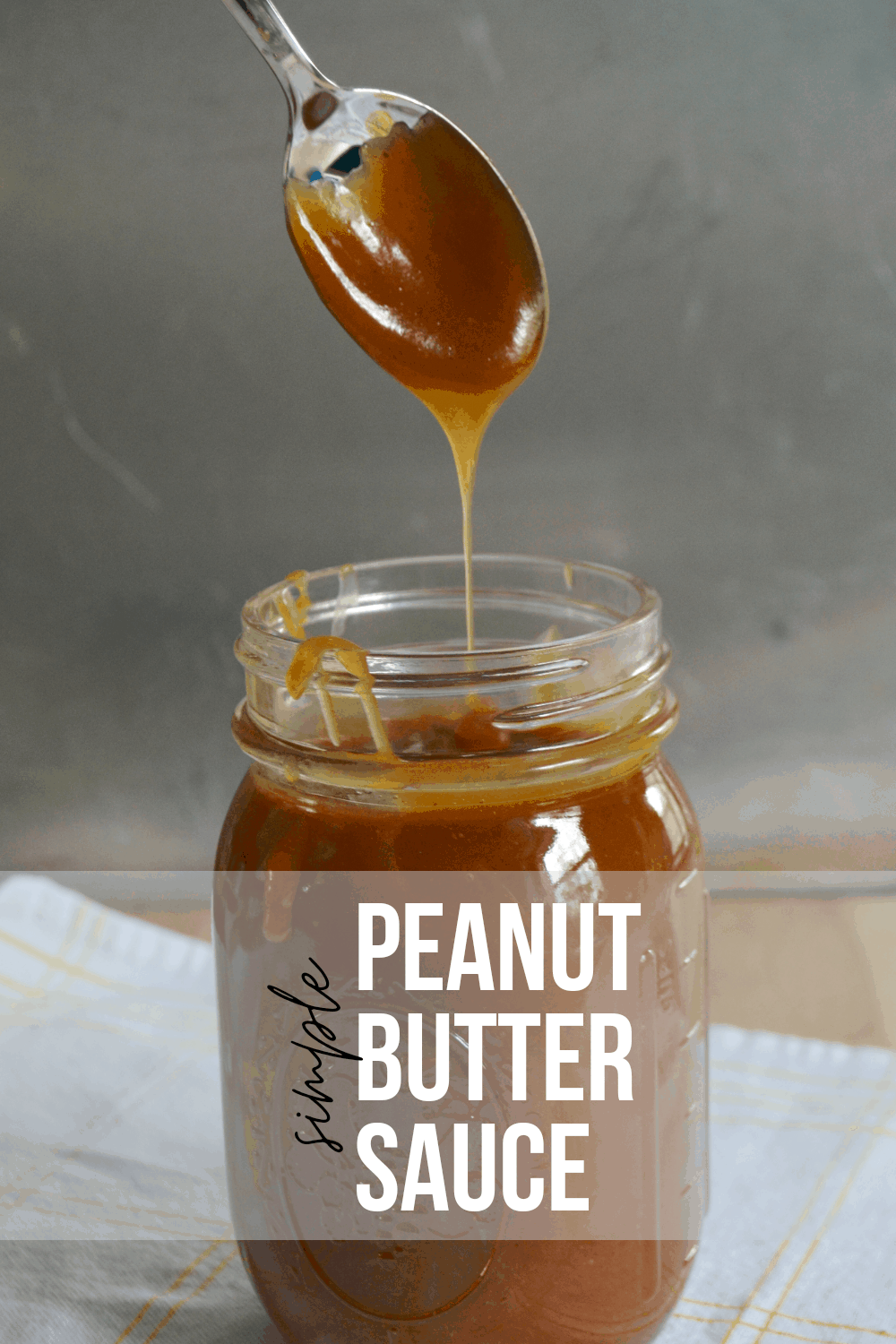 Simple Peanut Butter Sauce