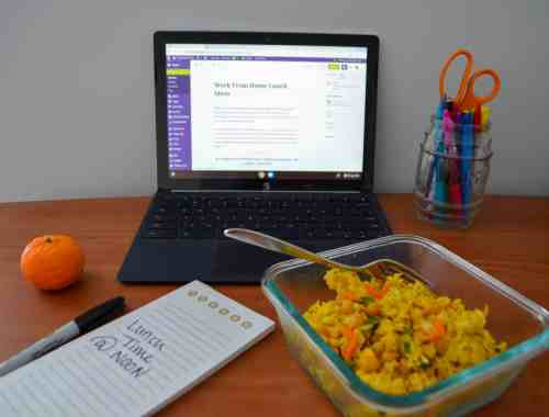 Lots of work from home lunch ideas.