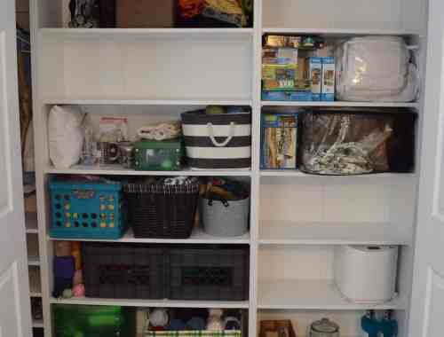 Design your reach in closet to maximize your storage
