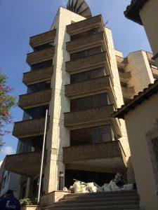 El edificio donde funcionaron oficinas como Terpel, Ecogás y la Transportadora de Gas Internacional (TGI) ahora hace parte de la Unab. /MARÍA ALEJANDRA VILLAMIZAR