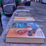 Estos fueron los libros que se podían intercambiar y que estaban disponibles para leer en el evento. /FOTO BRAYAN FELIPE DELGADO CALA