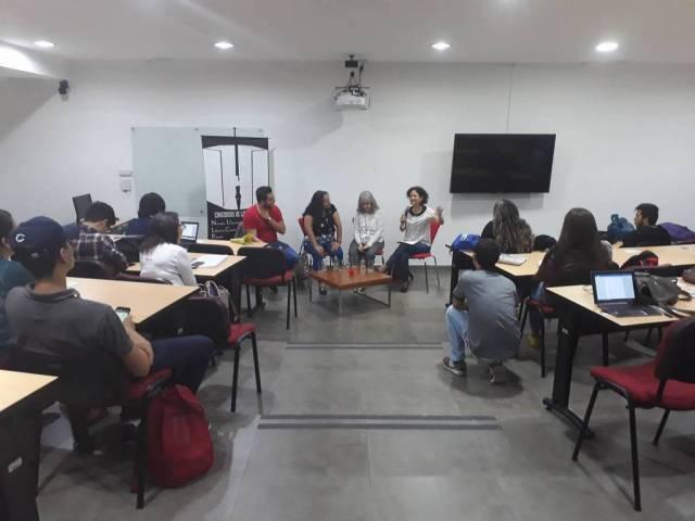 El conversatorio se realizó en el aula D 1-1 de la Universidad Autónoma de Bucaramanga/ FOTO: LAURA NATALIA MOLINA