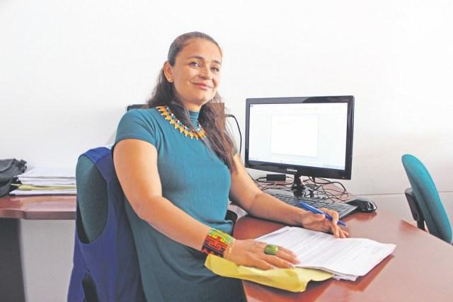 Yinérida Hernánez Morales, representante de las víctimas de violencia sexual de Piedecuesta. /FOTO HAYLER PEÑARANDA