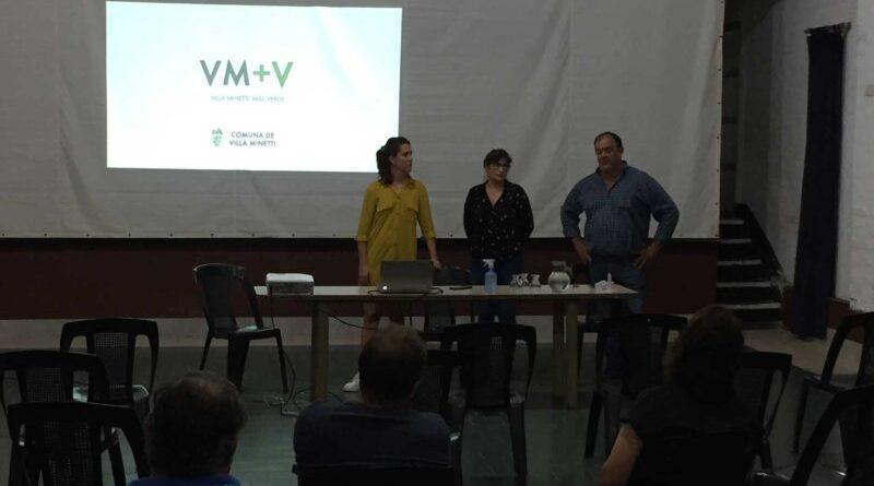 Presentaron Villa Minetti + Verde, programa de forestación para localidad