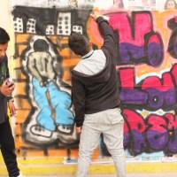 Grafitean para rechazar violencia y drogadicción