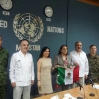 Senador Olvera visita Instalaciones de Tropas de la ONU en Hatí