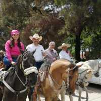 Feria del Charro en grande, festiva Cabalgata en La Colonia Felipe Ángeles