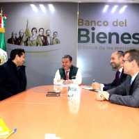 Va Julio César X sucursal del Banco del Bienestar en Guadalupe