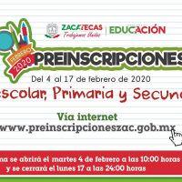 Listas Preinscripciones este 4 de Febrero para Preescolar, PRIMARIA Y SECUNDARIA