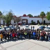 Alcalde guadalupense entrega 15 vehículos Oficiales