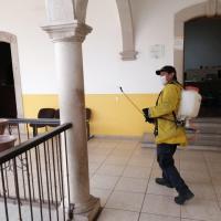 Intensifican jornadas permanentes de Sanitización de espacios públicos en Villanueva