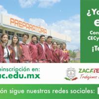 Cecytez sigue con periodo de Inscripciones para el ciclo Escolar 2020-2021