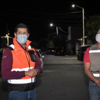 Va Julio César Chávez a Quinta San Jerónimo y entrega nuevo alumbrado Público