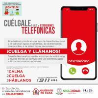 Cuidado!!!!!!! alerta Grupo de Coordinación Local sobre nuevas Modalidades de Extorsión Telefónica