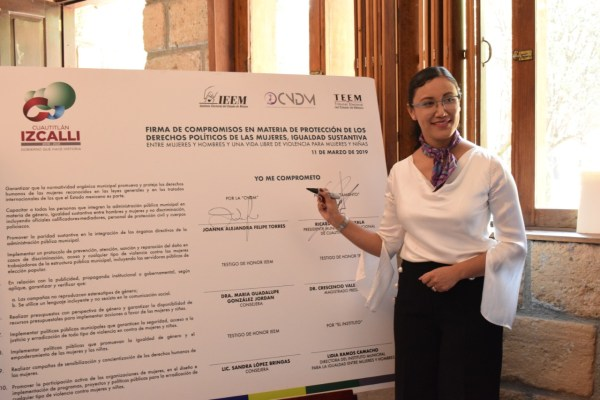 Firman compromisos por la Igualdad y Erradicación de Violencia en contra de Mujeres y Niñas