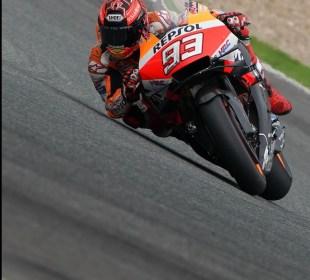Márquez acaba líder en la segunda jornada en Jerez