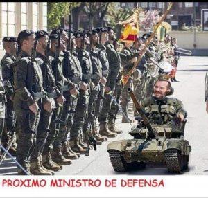 Meme. Próximo Ministro de Defensa/Vía Internet