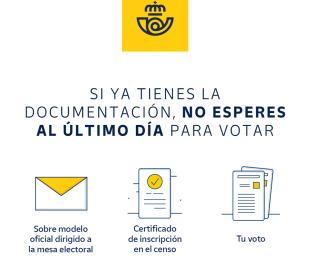Correos informa del voto por correspondencia