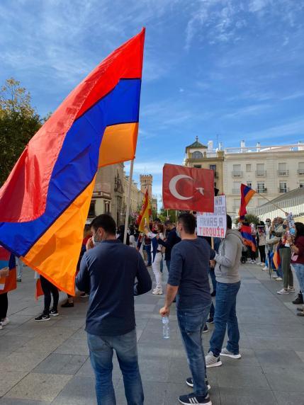 Manifestación del 26 de octubre en la Plaza de la Encarnación