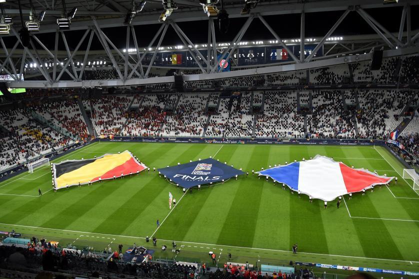 El Allianz stadium de Turín, preparado para el Bélgica-Francia de la Nations League. Massimo Rana / EFE