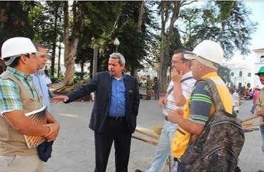 Secretario de Tránsito coordina con interventores obras del centro de Popayán si