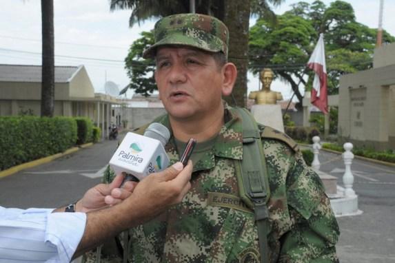 General Wilson Cabra Comandante de Fuerza de Tarea Apolo entreg balance de operativos en  en las ltimas horas