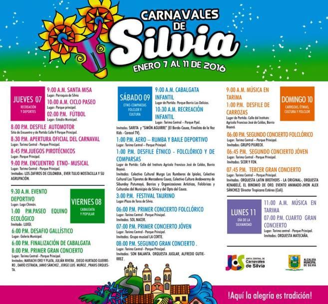 carnavales de silvia 2016