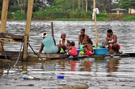 Los habitantes del municipio de Riosucio (Chocó) viven en condiciones humanitarias muy graves. Foto: Colprensa / Defensoría del Pueblo.
