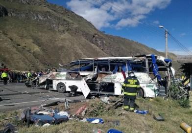 Bus accidentado en Ecuador  llevaba Marihuana