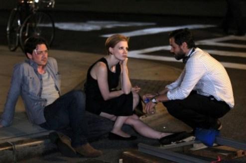 James McAvoy, Jessica Chastain y Ned Benson
