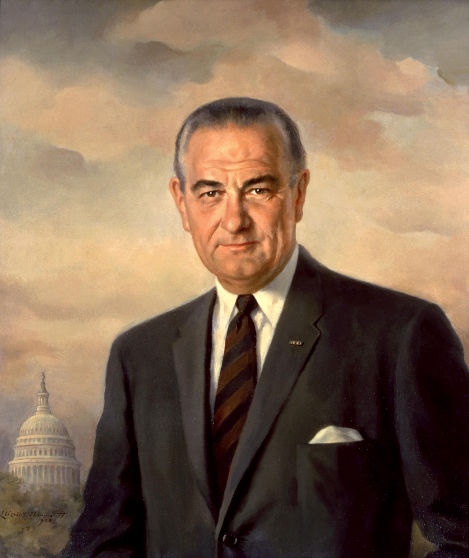 United States Historic Picture Print President LYNDON JOHNSON Famous Portrait