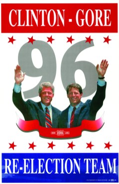 42 Bc, Clinton-Gore Re-Election Team, poster, 1996