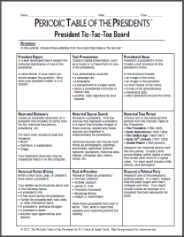 President Tic-Tac-Toe Board Thumbnail