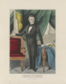 11 James K. Polk, The Peoples Candidate for President, hand-colored lithograph by N. Currier, c.1844 LOC