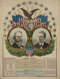Rutherford B. Hayes, National Republican Chart 1876, lithograph published by H. H. Lloyd _ Co., c. 1876