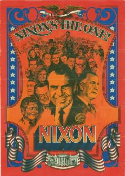 37 Rn, Nixon's the One, poster, 1968