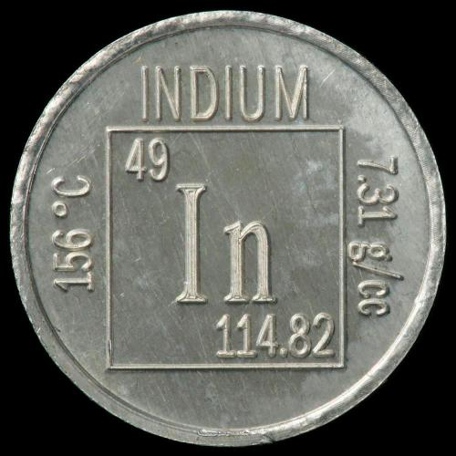 small resolution of indium element coin