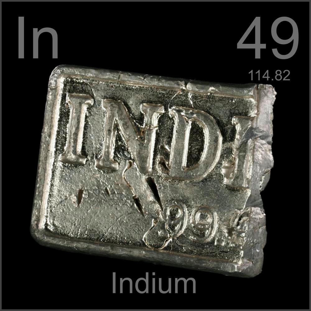 hight resolution of pictures stories and facts about the element indium in the periodic table