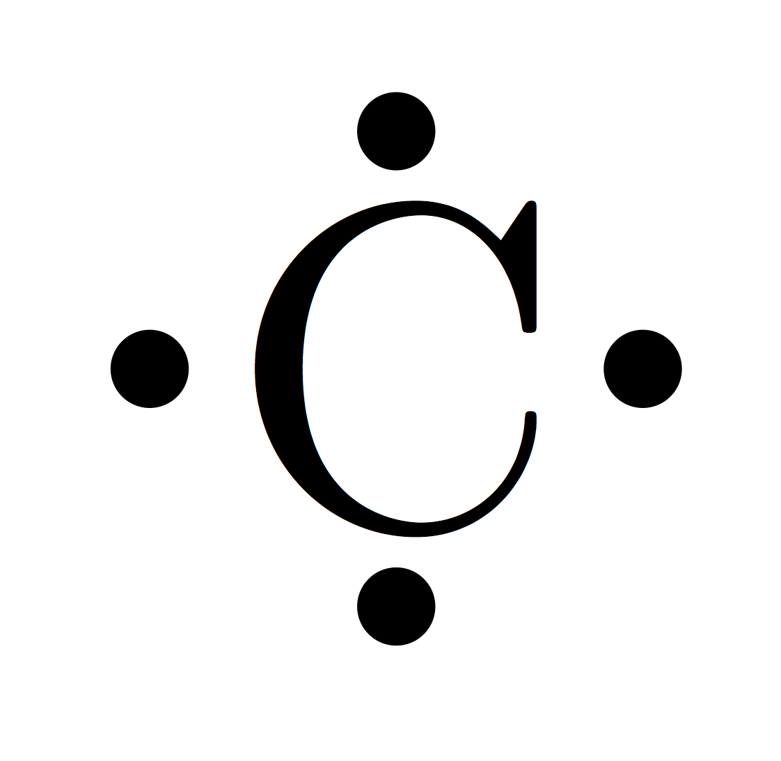 hight resolution of carbon electron dot diagram