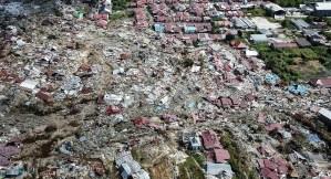 Imágenes satelitales muestran que el tsunami destruyó todo un barrio en Indonesia