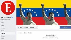 La revista The Economist cambia su perfil de Facebook en apoyo a Guaidó