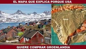 El mapa que explica porque Estados Unidos quiere comprar Groenlandia