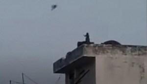 Graban a un mono volando una cometa mientras los humanos están confinados